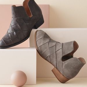 Seychelles woven leather suede deep sea bootie